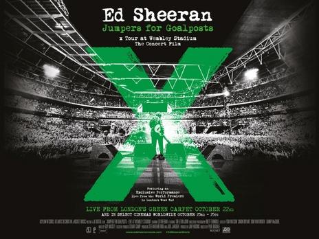 Ed Sheeran: Jumpers for Goalpoasts concert movie filmed at wembley stadium
