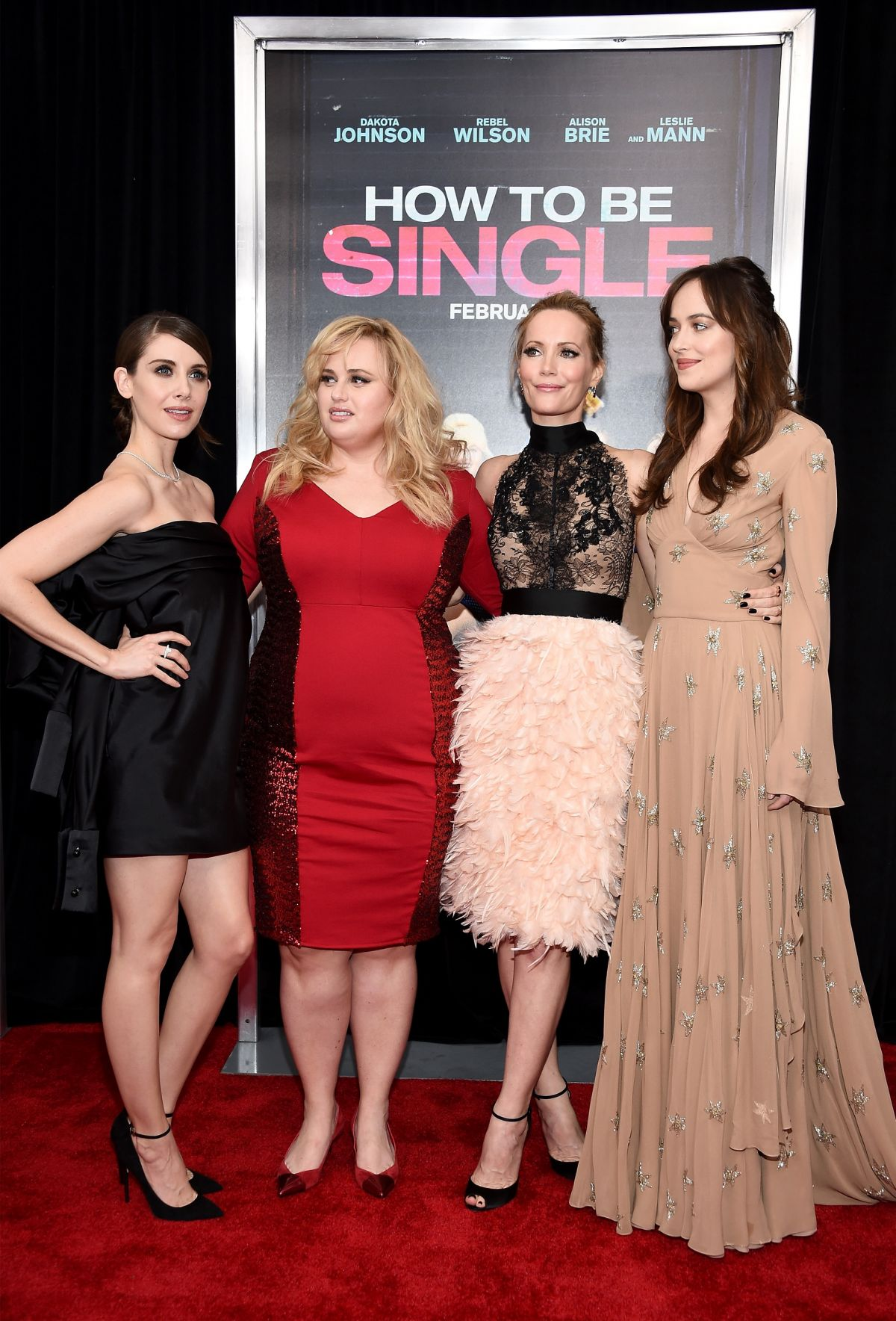 Alison Brie, Rebel Wilson, Leslie Mann & Dakota Johnson Alison Brie, Rebel  Wilson & Leslie Mann Attends The How To Be Single Premiere In