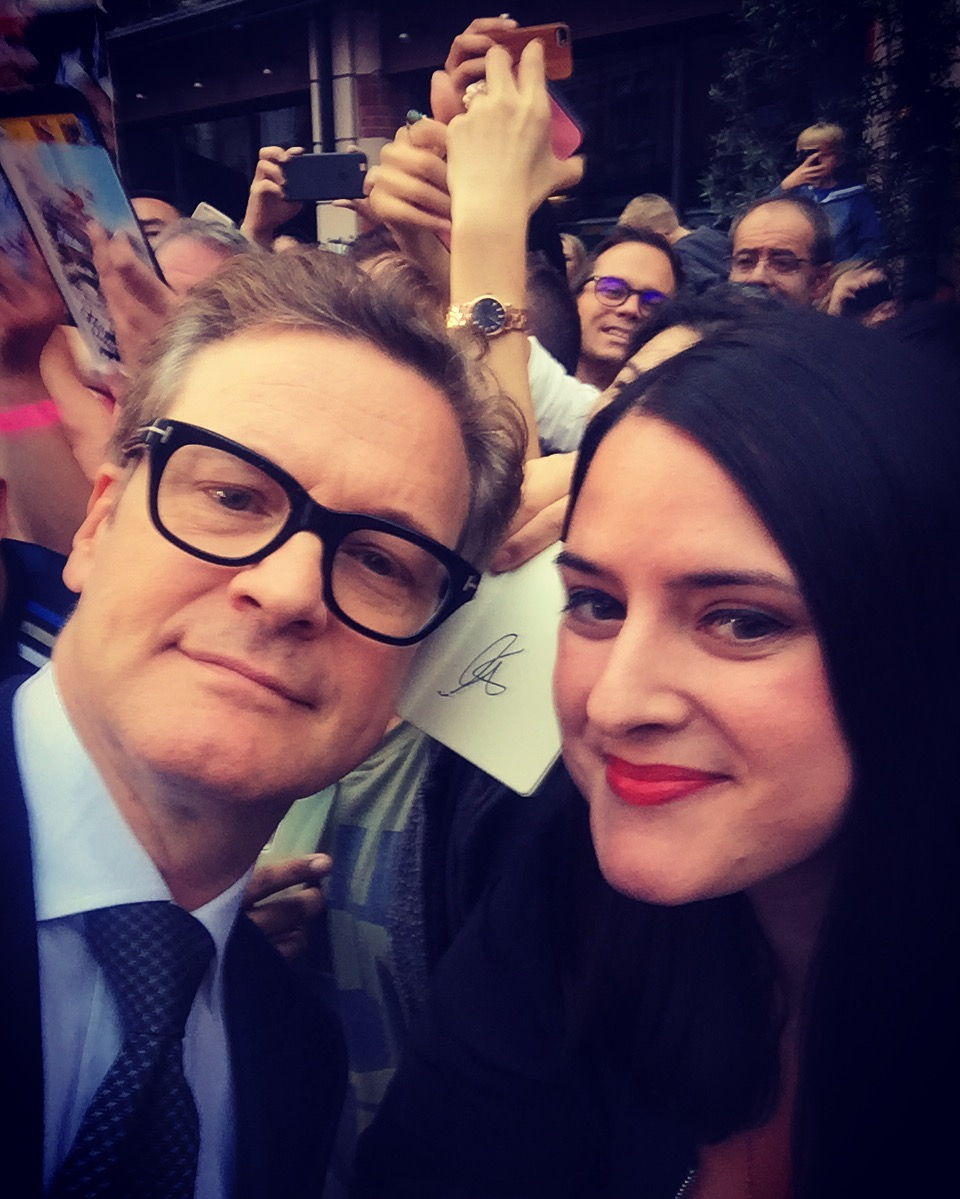 Colin Firth with fans