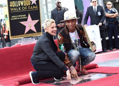 Ellen Degeneres and Pharrell Williams Walk of fame