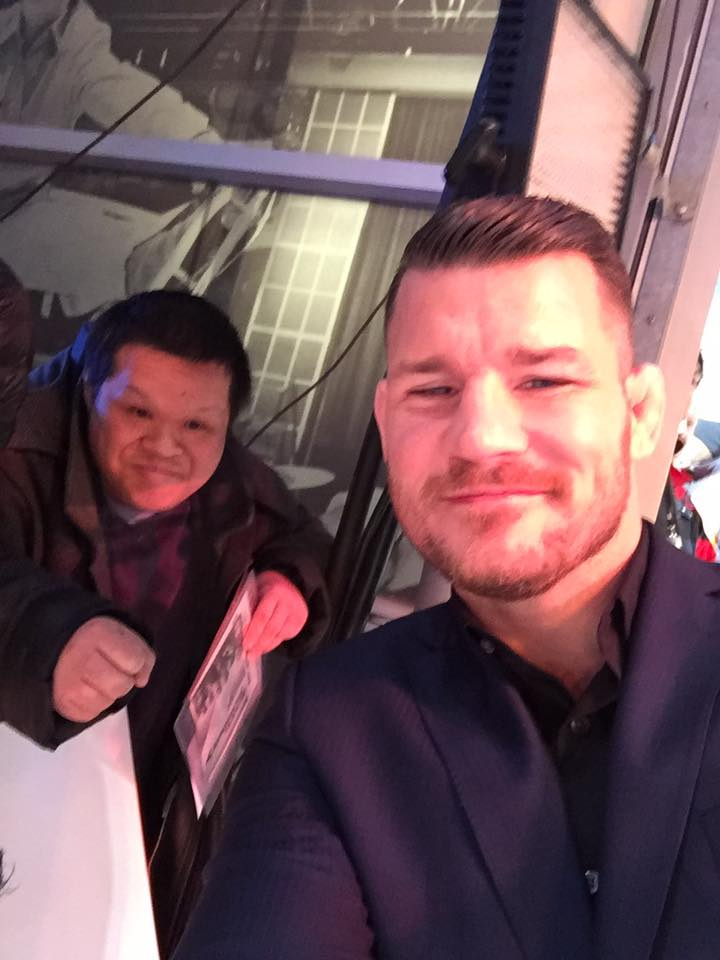 Michael Bisping meets fans xxx return of Xander cage london film premiere