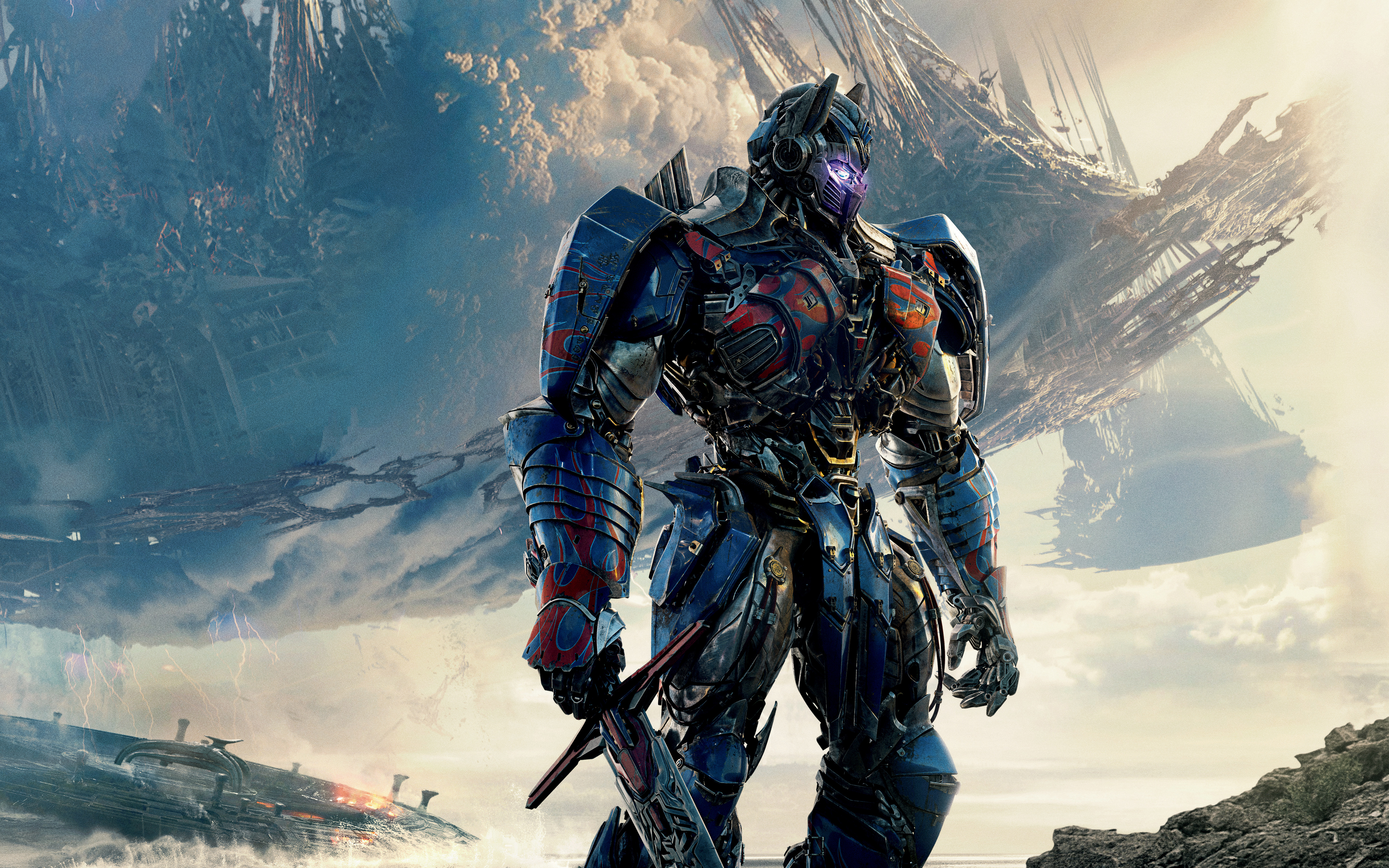 Transformers The Last Knight Official Movie Poster Wallpaper