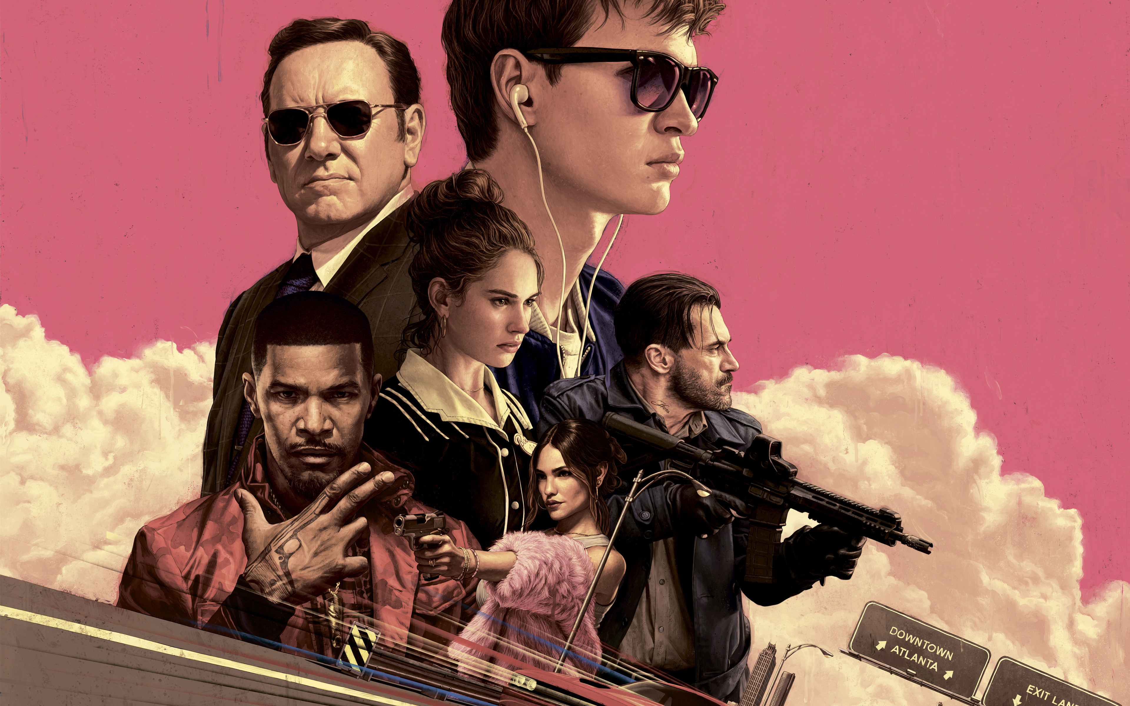 Baby Driver Official Movie Wallpaper