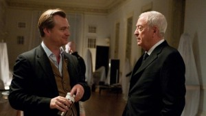 Christopher Nolan And Michael Caine