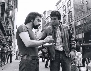 Martin Scorsese and a Robert De Niro on set of Taxi Driver (1976) (Photo: Courtesy of Cinematheque Francaise)