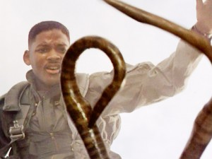 Will Smith fights an alien in Independence Day
