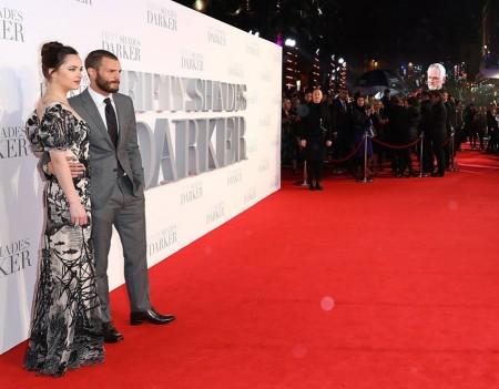 Dakota Johnson and Jamie Dornan Fifty Shades Darker UK Film Premiere London Odeon Leicester Square Red Carpet Arrivals