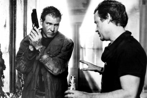 Harrison Ford and Ridley Scott on set of Blade Runner